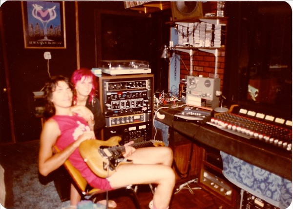Steve Vai with Pia in Stucco Blue Studios (June 1983)