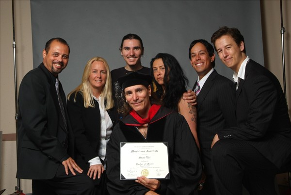 Steve receiving his Honorary Doctorate from Musicians Institute, September 18, 2009 at LA's Wiltern Theatre
